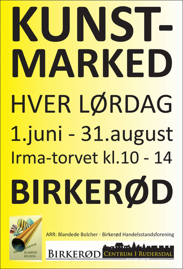 Kunst Marked hver lørdag 1 juni til 31 august 2013